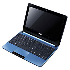 "Acer Aspire One D270 Intel Atom Processor N2600 1gb/320gb 10.1"" Aqua Laptop"