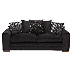 Ava Large Black Sofa