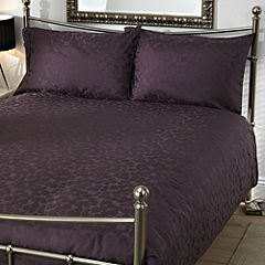 Tu Purple Leaf Jacquard Bed Linen Set