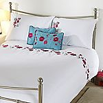 Tu Embroidered Floral Bed in a Bag - includes Duvet Cover, Pillowcase, and Cushion Cover