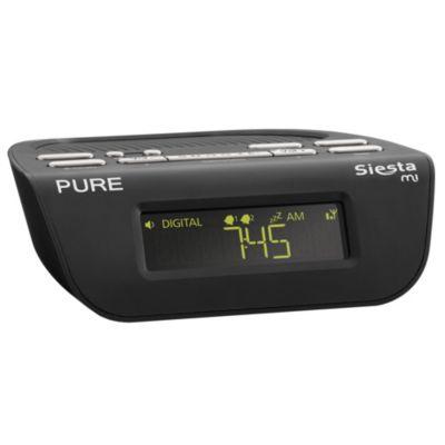 pure siesta mi ii alarm clock dab radio clock radio audio hi fi t. Black Bedroom Furniture Sets. Home Design Ideas