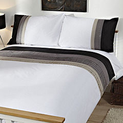 Tu Black Panelled Bed Linen Set