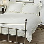 Home Collection Egyptian Cotton Plain Cream Bed Linen