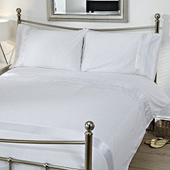 Tu White Panelled Bed Linen Set