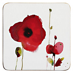 Tu Poppy Coasters 4-pack