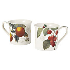 Kew Gardens Orchard Fruits Mug Set of 2