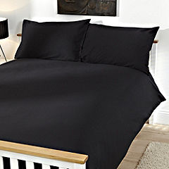 Tu Plain Black Bed Linen Set