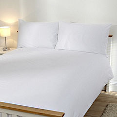Tu Plain White Bed Linen Set