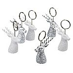 Tu Silver and White Stag Photo Holders 6-pack