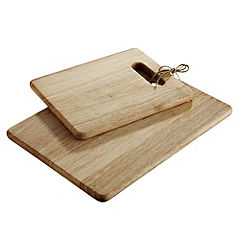 Sainsbury's Rubber Wood Chopping Boards 2-pack