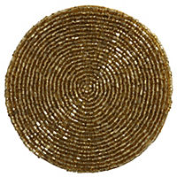 by Sainsbury's Gold Lustre Beaded Coasters 4-pack
