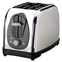 Sainsbury's Polished Stainless Steel 2-slice Toaster
