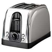 Sainsbury's Stainless Steel 2-slice Toaster