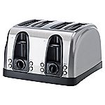 Sainsbury's Stainless Steel 4-slice Toaster