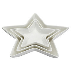 Home Collection Set of 3 Star-shaped Serving Dishes