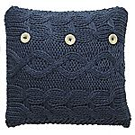 Tu Navy Chunky Knitted Cushion