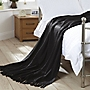 Home Collection Black Mohair Look Throw