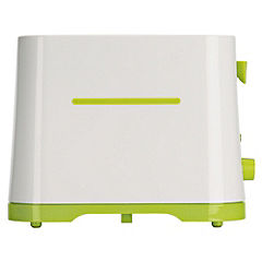 Sainsbury's Colour 2-slice White & Lime Toaster