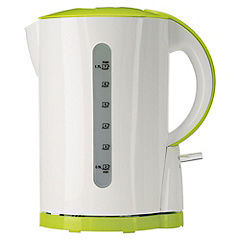 Sainsbury's Colour 1.7L White & Lime Kettle