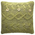 Tu Green Chunky Knitted Cushion