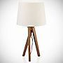 Tu Smedley Wooden Tripod with Cream Shade