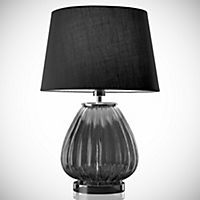 Tu Selby Smoked Glass Table Lamp