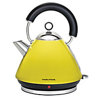Morphy Richards Yellow Pyramid Accents Kettle