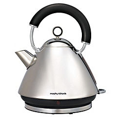 Morphy Richards Polished Silver Pyramid Accents Kettle