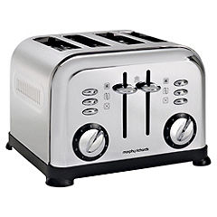 Morphy Richards Polished Stainless Steel Accents 4-slice Toaster