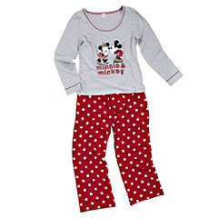 Tu Ribbon-tied Long Sleeve Disney Mickey PJ