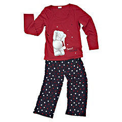 Tu Ribbon-tied  Long Sleeve Tatty Ted PJ