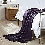 Tu Purple Chunky Knitted Throw