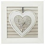 Framed Heart Canvas Wall Art 30x30cm