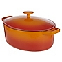 Cook's Collection Orange 5.2L Oval Cast Iron Casserole Dish