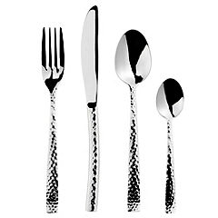 Tu 16-Piece Hammered Metal Cutlery Set