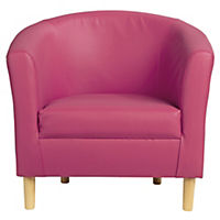 Tub Chair in Pink