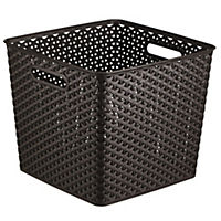 Curver My Style Brown Rattan Effect  Storage Tray 25L