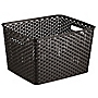 Curver My Style Brown Rattan Effect Storage Tray 18L