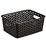 Curver My Style Brown Rattan Effect Storage Tray 8L