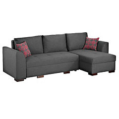 Natalie Right Hand Pink Corner Group with Sofabed and Storage