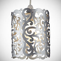 Silver Metal Cut-out Shade