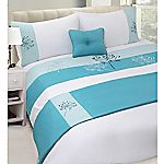 Tu Teal Agapanthus Bed in a Bag - includes Duvet Cover, Pillowcase, Cushion and Runner