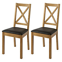 Stratford Cross Back Pair of Dining Chairs