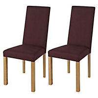 Stratford Fabric Pair of Dining Chairs