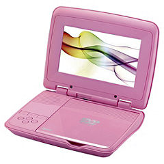 Red Portable DVD Player Pink