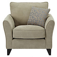 Cambourne Linen Chair with Duck Egg Scatter Cushion