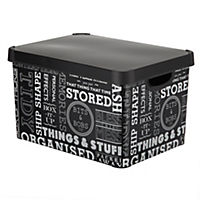 Tu Text Deco Storage Box with Lid 22L