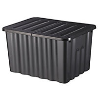 Strata Graphite Storage Box with Lid 28L