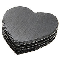 Home Collection Slate Heart-shaped Coasters 4-pack
