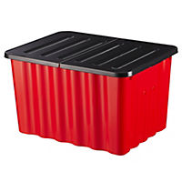 Strata Red Storage Box with Lid 28L